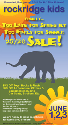 Rockridge Kids Spring/Summer Sale